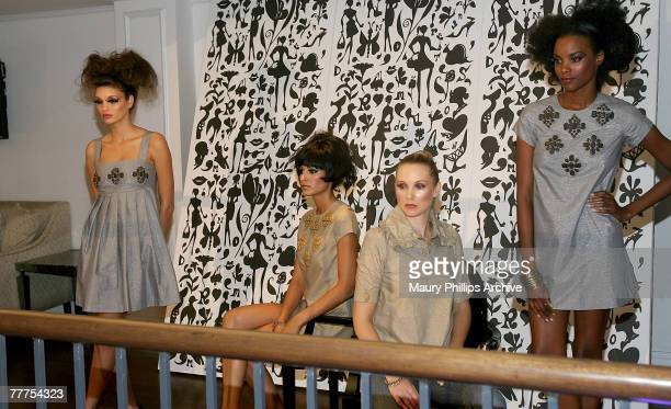 Models wearing Karta attend the Nordstrom event at Boulevard 3 on October 18, 2007 in Los Angeles, California.
