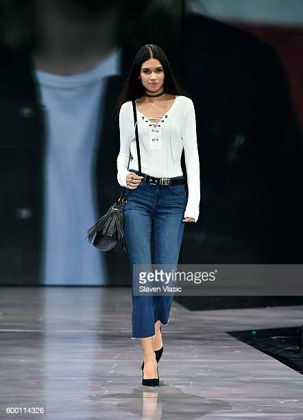 Models wearing Kenneth Cole walk the runway as Macy's Presents Fashion's Front Row kicksoff New York Fashion Week at The Theater at Madison Square...
