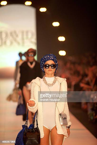 Models wearing Mimco at the opening of the 2015 Melbourne Fashion Festival on March 14 2015 in Melbourne Australia