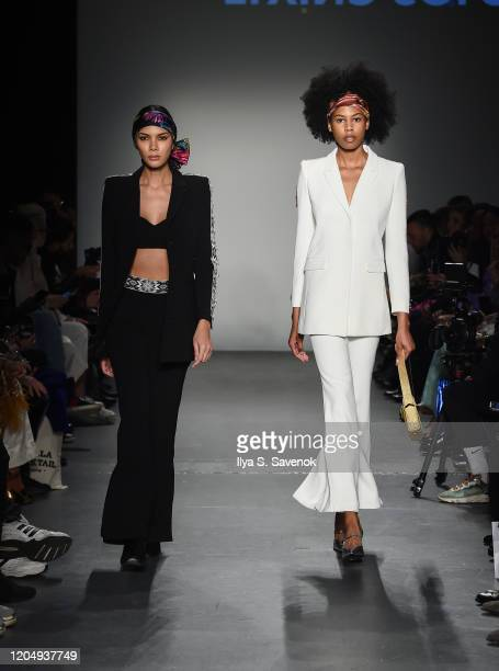 Models wearing Patricia Govea Collection with shoes by Per Fidem bags by SSY designs and accessories by Norton and Hodges walk the runway during the...