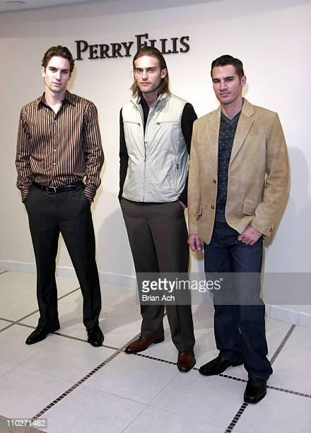 Models wearing Perry Ellis Menswear Fall 2006 during Olympus Fashion Week Fall 2006 Perry Ellis Menswear Presentation at Perry Ellis Showroom in New...