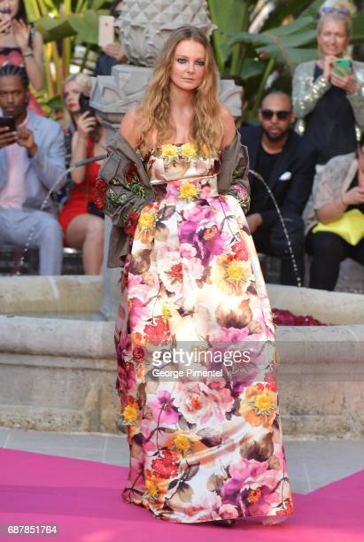 Models wearing Philipp Plein walk the runway at the Philipp Plein Cruise Show 2018 during the 70th annual Cannes Film Festival at on May 24 2017 in...