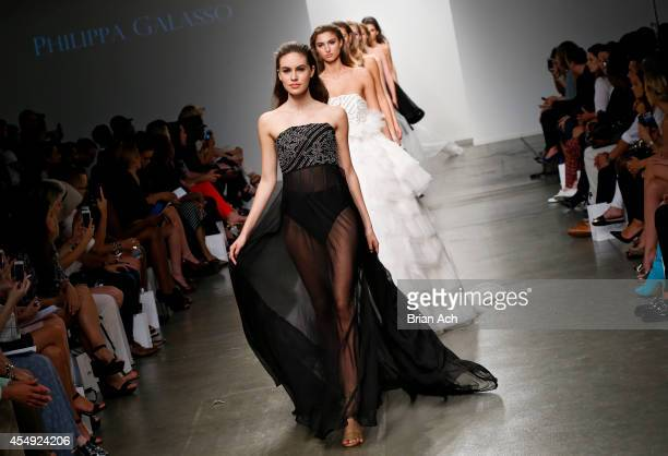 Models wearing Philippa Galasso walk the runway during the Fashion Palette Australia runway show during New York Fashion Week Spring 2015 at Pier 59...