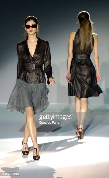 Models wearing Roberto Torreta Fall 2006 during Pasarela Cibeles Madrid Fashion Week Fall/Winter 2006 Roberto Torreta Runway at IFEMA Congress Palace...