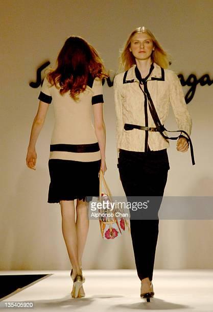Models wearing Salvatore Ferragamo Spring/Summer 2006
