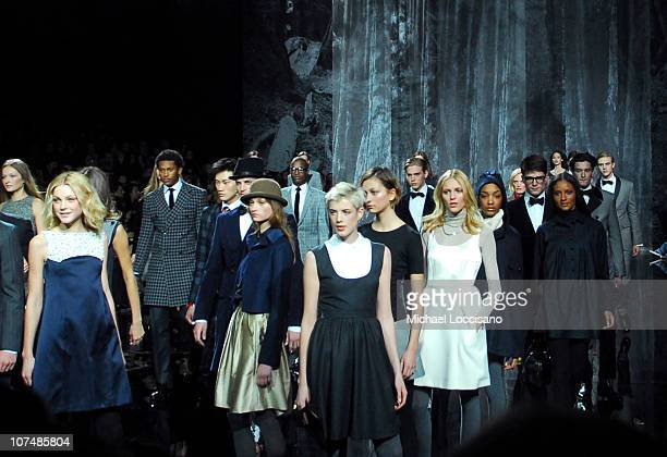 Models wearing Tommy Hilfiger Fall 2007 during Mercedes Benz Fashion Week Fall 2007 Tommy Hilfiger Runway at Hammerstein Ballroom in New York City...