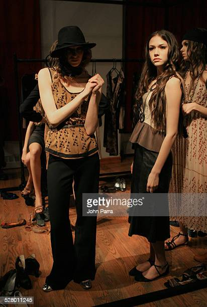 Models wearing Vena and Cava Fall 2006 during Olympus Fashion Week Fall 2006 Vena Cava Presentation at 33 West 19th St in New York City New York...