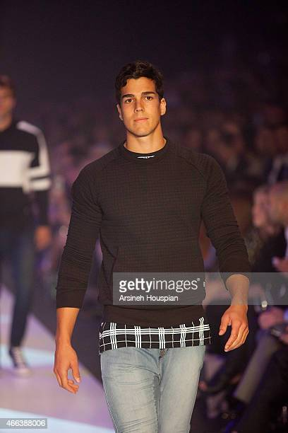 Models wearing Zanerobe at the opening of the 2015 Melbourne Fashion Festival on March 14 2015 in Melbourne Australia