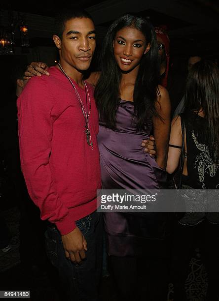 Models Wendell Lissimore and Sessilee Lopez attend the Yellow Fever launch party at RdV on February 19 2009 in New York City