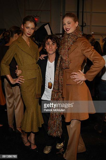 Models with Esteban Cortazar attends Esteban Cortazar Fall 2005 Fashion Show at The Plaza at Bryant Park on February 6 2005 in New York City