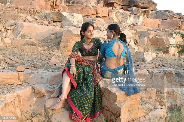 Models with Rajasthani Choli in Alwar Rajasthan India
