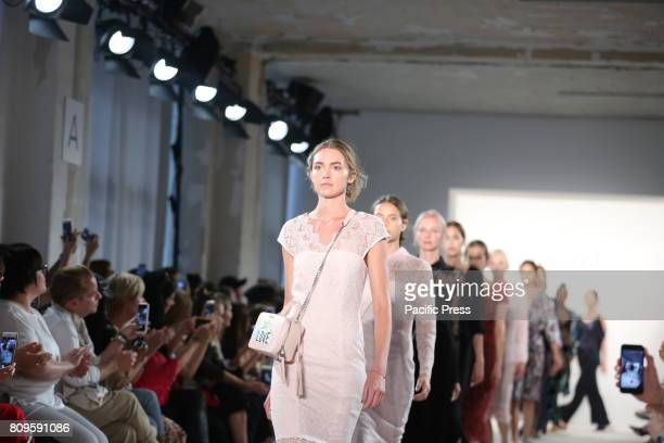Models with the LAUREL collection on the catwalk LAUREL showcases its latest Spring/Summer 2018 Collections in the Department store Jandorf in the...