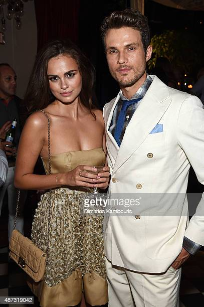 Models Xenia Deli and Ryan Cooper attend the debut of Margherita Missoni and Peroni Nastro Azzurro's Fall fashion collaboration during New York...