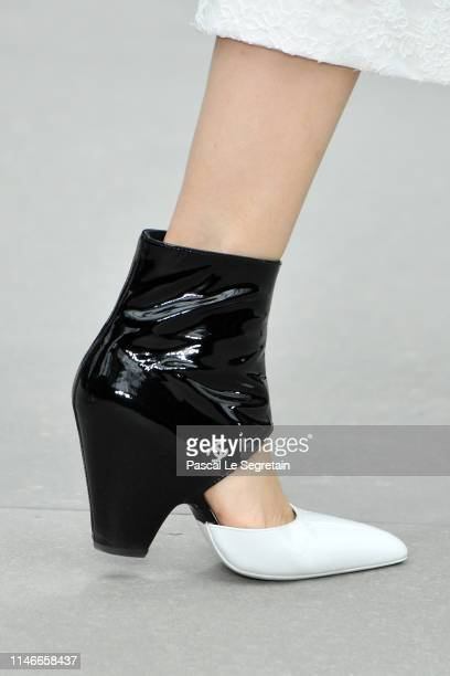 A modelshoe detail walks the runway during Chanel Cruise 2020 Collection at Le Grand Palais on May 03 2019 in Paris France