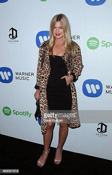 Model/singer Jennifer Ackerman attends the Warner Music Group annual Grammy celebration at Chateau Marmont on February 8 2015 in Los Angeles...