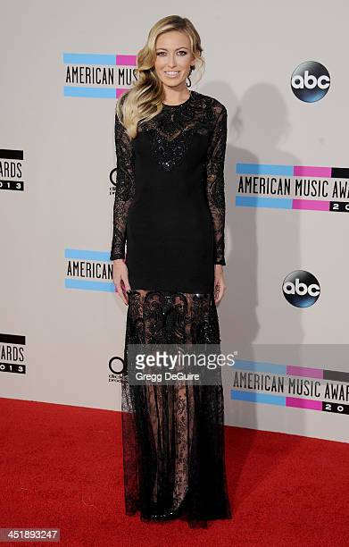 Model/singer Paulina Gretzky arrives at the 2013 American Music Awards at Nokia Theatre LA Live on November 24 2013 in Los Angeles California