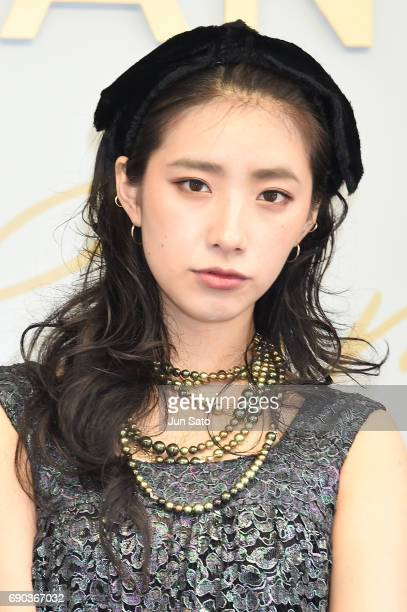 Model/singer Una attends the CHANEL Metiers D'art Collection Paris Cosmopolite show at the Tsunamachi Mitsui Club on May 31 2017 in Tokyo Japan