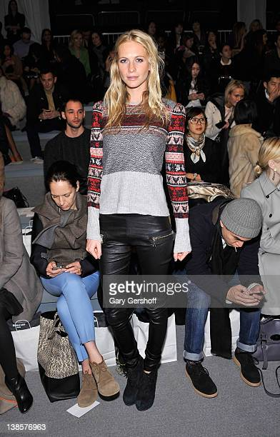 Model/socialite Poppy Delevingne attends the Richard Chai Love Fall 2012 fashion show during MercedesBenz Fashion Week at the The Stage at Lincoln...