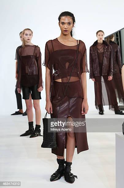 Modelspose at Collina Strada presentation during MADE Fashion Week Fall 2015pose at Milk Studios on February 14 2015 in New York City