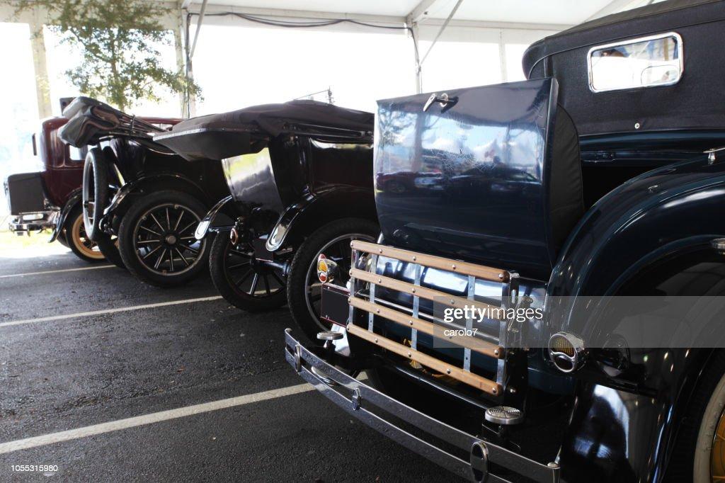 Modelt Lineup At Florida Car Show Rear View Classic Cars Usa