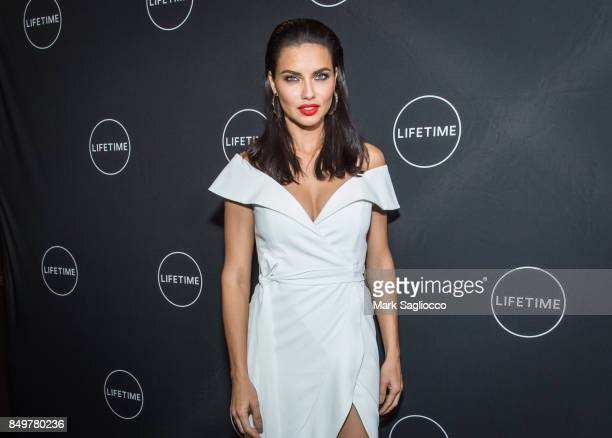 Model/Television Personality Adriana Lima attends the 'American Beauty Star' New York Premiere at Gramercy Terrace at The Gramercy Park Hotel on...