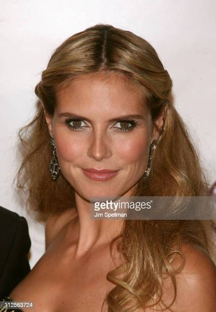 Model/television personality Heidi Klum arrives at 11th Annual ACE Awards at Cipriani 42nd St on November 5 2007 in New York City