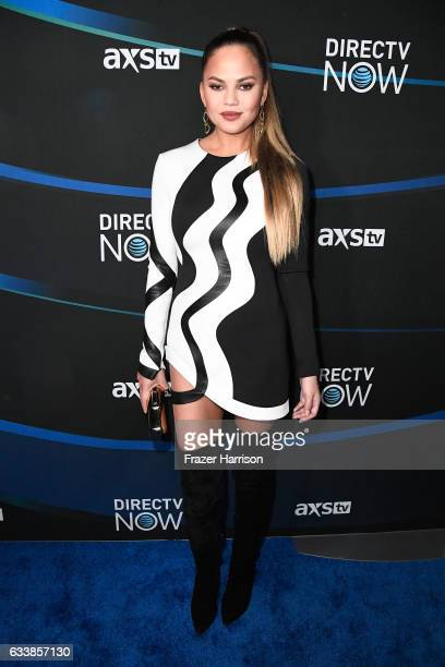 Model/TV personality Chrissy Teigen attends the 2017 DIRECTV NOW Super Saturday Night Concert at Club Nomadic on February 4 2017 in Houston Texas
