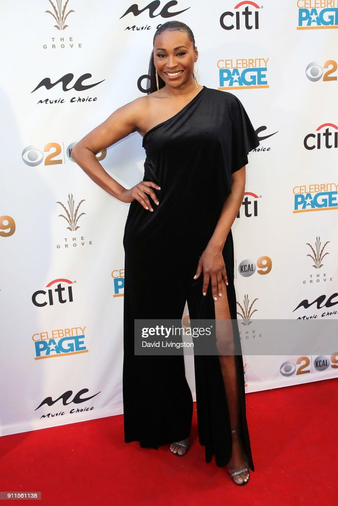 Model/TV personality Cynthia Bailey attends a GRAMMY viewing party and reception hosted by Celebrity Page, KCAL-TV and KCBS-TV at La Piazza on January 28, 2018 in Los Angeles, California.
