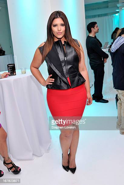 Model/TV personality Denise Bidot attends a press event celebrating singer Romeo Santos' concert special 'The King Stays King Sold Out At Madison...