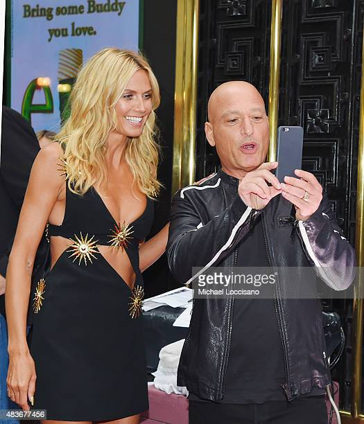 "Model/TV personality Heidi Klum and comedian/TV personality Howie Mandel take a picture before the ""America's Got Talent"" season 10 taping at Radio..."