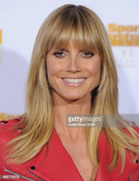 Model/TV personality Heidi Klum arrives at NBC And Time Inc Celebrate 50th Anniversary Of Sports Illustrated Swimsuit Issue at Dolby Theatre on...