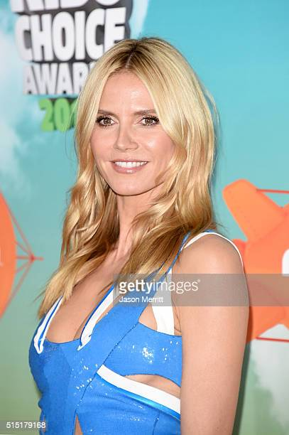 Model/TV personality Heidi Klum attends Nickelodeon's 2016 Kids' Choice Awards at The Forum on March 12 2016 in Inglewood California