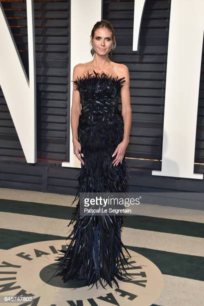 ModelTV personality Heidi Klum attends the 2017 Vanity Fair Oscar Party hosted by Graydon Carter at Wallis Annenberg Center for the Performing Arts...