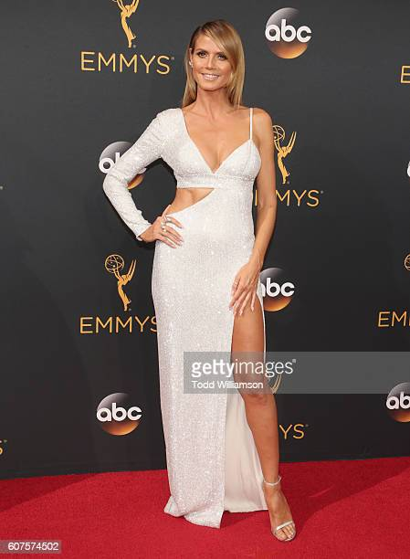 Model/TV personality Heidi Klum attends the 68th Annual Primetime Emmy Awards at Microsoft Theater on September 18 2016 in Los Angeles California