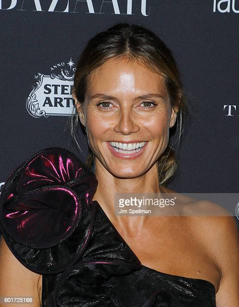 """Model/TV personality Heidi Klum attends the Harper's BAZAAR celebrates """"ICONS By Carine Roitfeld"""" at The Plaza Hotel on September 9, 2016 in New York..."""