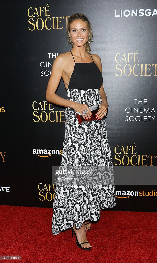 Model/TV personality Heidi Klum attends the New York premiere of 'Cafe Society' hosted by Amazon & Lionsgate with The Cinema Society at Paris Theatre on July 13, 2016 in New York City.