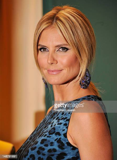 Model/TV personality Heidi Klum promotes Project Runway The Show That Changed Fashion at Barnes Noble 5th Avenue on July 13 2012 in New York City
