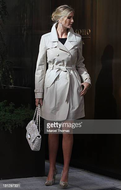 Model/TV personality Ivanka Trump is seen on the streets of Manhattan on November 3 2011 in New York City