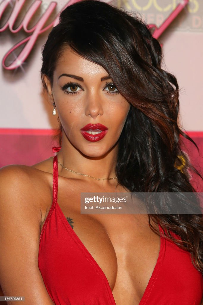 Model/TV personality Nabilla Benattia attends the 8th Annual Kandyland - An Evening Of Decadent Dreams on August 17, 2013 in Beverly Hills, California.