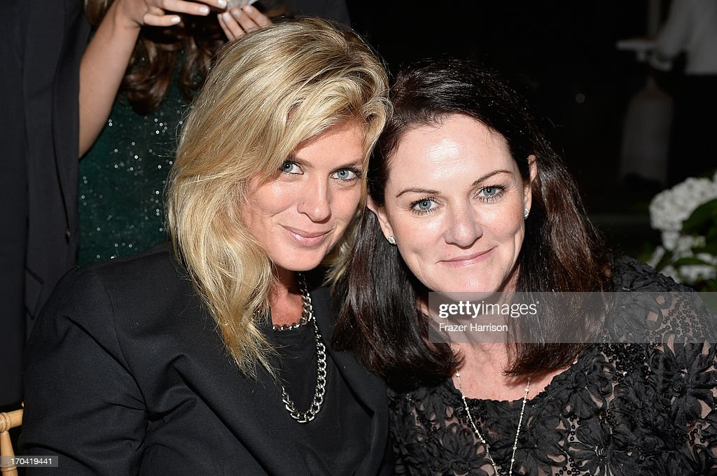Model/TV personality Rachel Hunter and Australians in Film board member Michelle Day attend the Australians In Film and Heath Ledger Scholarship Host 5th Anniversary Benefit Dinner on June 12, 2013 in Los Angeles, California.