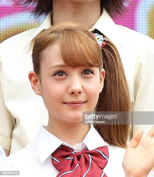 Model/TV personality Reina Triendl attends the Fuji TV program press conference on August 6 2013 in Tokyo Japan