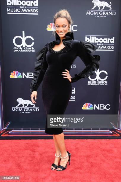 ModelTV personality Tyra Banks attends the 2018 Billboard Music Awards at MGM Grand Garden Arena on May 20 2018 in Las Vegas Nevada