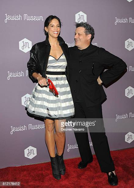Model/TV personality Veronica Webb Del Gatto and fashion designer Isaac Mizrahi attend The Jewish Museum's Purim Ball 2016 at Park Avenue Armory on...