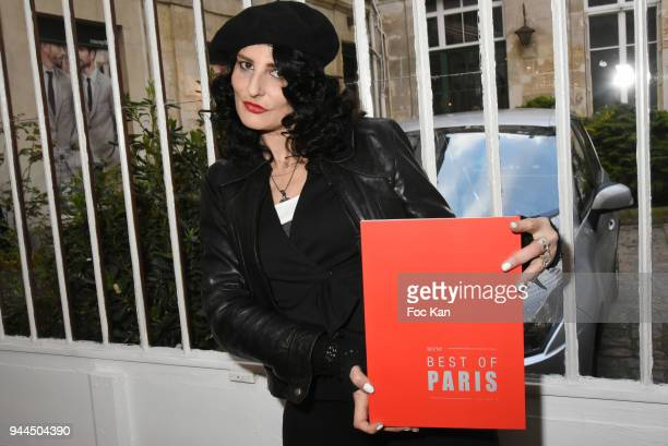 Model/writer Sylvie Ortega Munos attends the 'Bel RP' 10th Anniversary at Atelier Sevigne on April 10 2018 in Paris France