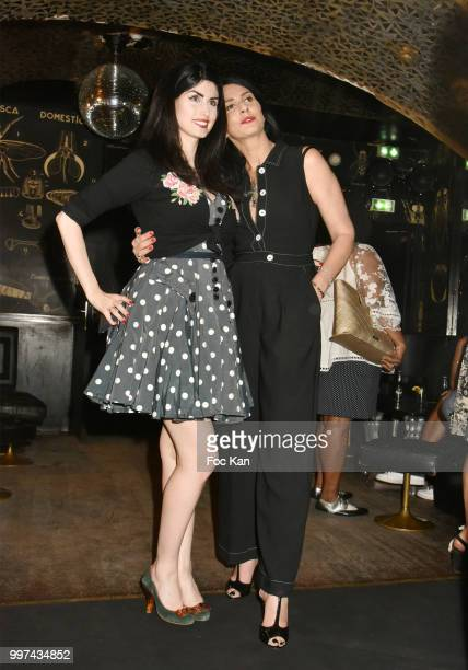 Model/writer Sylvie Ortega MunosÊand Elsa Oesinger attend Sylvie Ortega Munos Book SigningÊ Party at the Montana on July 12 2018 in Paris France