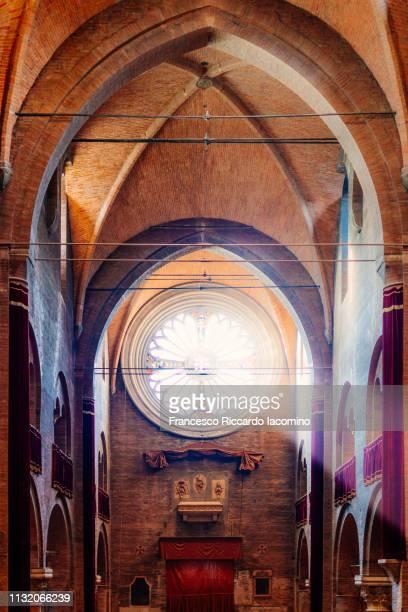 modena cathedral, interior view. emilia romagna, italy - modena stock-fotos und bilder