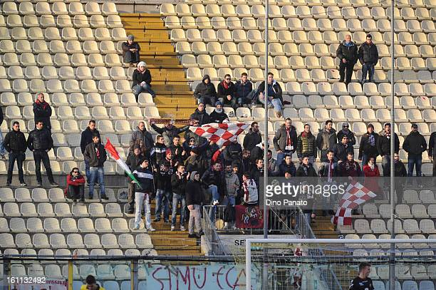 Modena FC fans show their support during the Serie B match between Modena FC and Reggina Calcio at Alberto Braglia Stadium on February 9 2013 in...