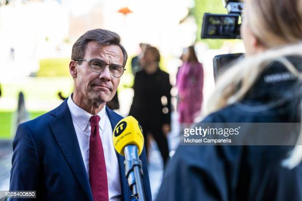 Moderate Party leader Ulf Kristersson attends the opening of the Swedish Parliament for the fall session at the Riksdag Parliament building on...