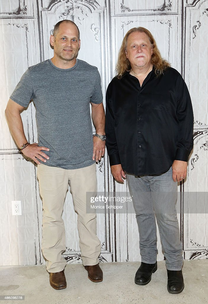 Moderator Alan Paul (L) and musician Warren Haynes attend AOL BUILD Speaker Series: Warren Haynes Discusses His New Album 'Ashes And Dust' at AOL Studios In New York on September 2, 2015 in New York City.