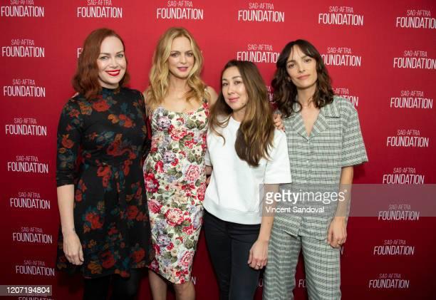 Moderator Alicia Malone Actress Heather Graham Director Aisling ChinYee and Actress Jodi Balfour attend SAGAFTRA Foundation Conversations presents...
